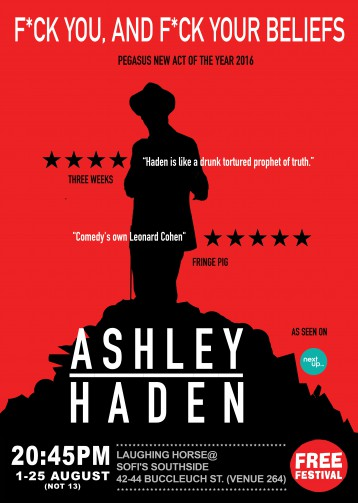 Ashley Haden: F*ck you, and F*ck your beliefs.