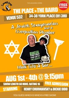 A Jewish Sexagenarian and a Liverpudlian Plumber walk into a bar ...